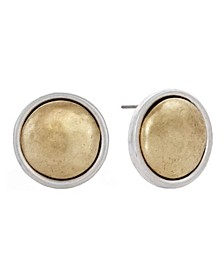 Round Button Earrings