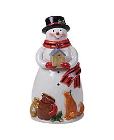 Magic of Christmas Snowman Cookie Jar Santa