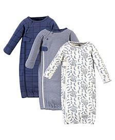 Baby Boys and Girls Zipper Gowns