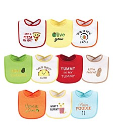 Boys and Girls Drooler Bibs with Fiber Filling