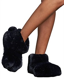Faux Fur Claw Slipper Boot