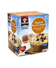 Instant Oatmeal Maple Brown Sugar Packets, 40 Count