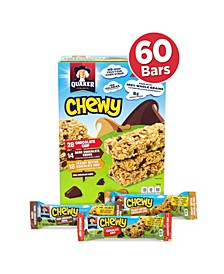 Chewy Granola Bar Chocolate Chip Peanut Butter Chocolate Chip Variety Pack 60 Count