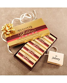 Golden Almond Chocolate Bar Gift Box, 5 Count, 2.8 oz Bars