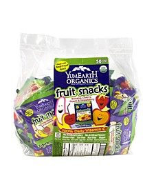 Organic Fruit Snacks Snack Packs, 50 Count