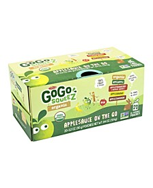 Gogo Squeez Organic Applesauce On-The-Go Variety, 3.2 oz, 20 Count