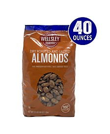Roasted and Salted Almonds, 2.5 lbs