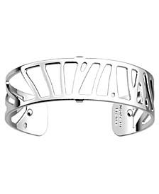 Rectangular Openwork Thin Adjustable Cuff Perroquet Bracelet, 14mm, 0.5in