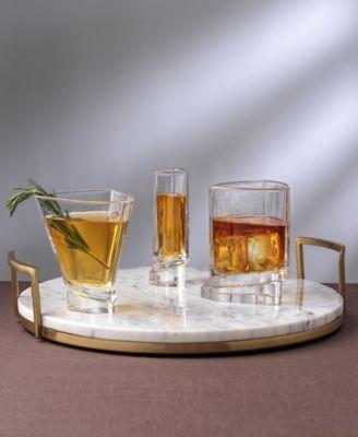 Aqua Vitae Off Base Round Whiskey Glasses, Set of 2