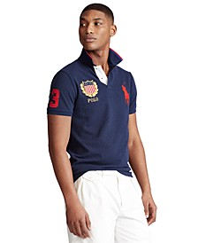 Men's Custom Slim-Fit Mesh Embroidered Polo Shirt