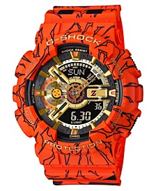 Men's Analog-Digital Dragonball Z Orange Resin Strap Watch 51.2mm - A Limited Edition