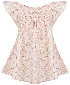 Baby Girls Floral-Print Smocked Top, Created for Macy's