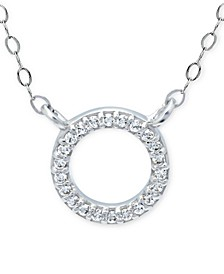 """Cubic Zirconia Mini-Circle 16"""" Pendant Necklace, Created for Macy's"""