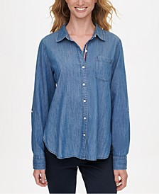 Soft Chambray Button-Up Shirt