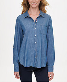 Tommy Hilfiger Soft Chambray Button-Up Shirt