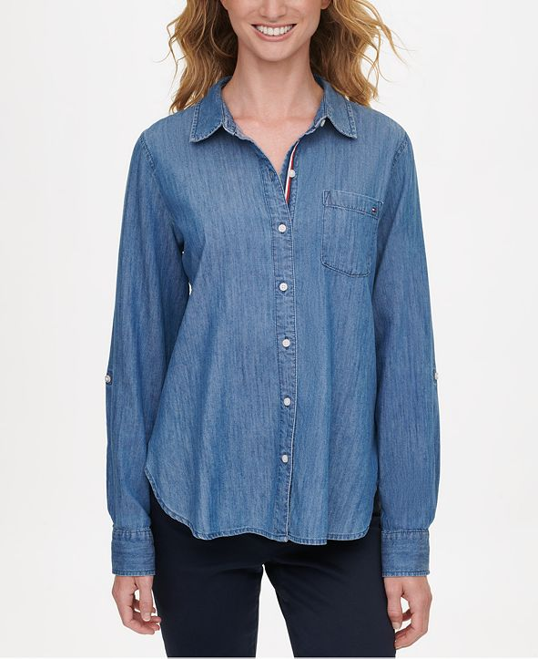 Tommy Hilfiger Soft Chambray Button-Up Shirt