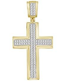 Men's Diamond (1/3 ct. t.w.) Cross Pendant in 10K White or Yellow Gold
