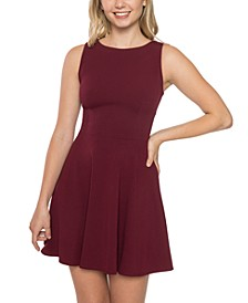 Juniors' Bow-Back Wide-Strap Dress