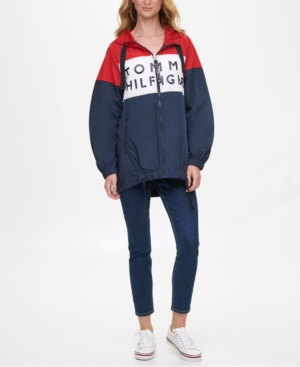Tommy Hilfiger COLORBLOCKED WINDBREAKER JACKET, CREATED FOR MACY'S