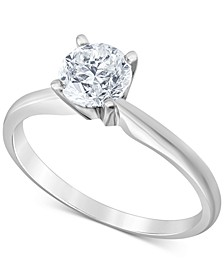 Diamond (5/8 ct. t.w.) Solitaire Engagement Ring in 14k White Gold