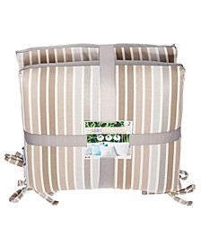 "Parker Stripe 18"" x 18"" Outdoor Chair Pad Seat Cushion 2-Pack"