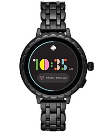 Women's Scallop 2 Black Ion-Plated Stainless Steel Bracelet Touchscreen Smart Watch 41mm, Powered by Wear OS by Google™