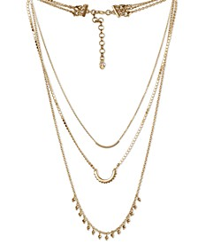 """Gold-Tone Zig-Zag Convertible Layered Necklace, 16"""" + 3"""" extender"""
