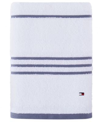 "Modern American Stripe 30"" x 54"" Cotton Bath Towel"
