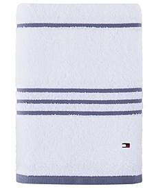 """Modern American Stripe 30"""" x 54"""" Cotton Bath Towel"""