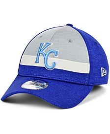 Kansas City Royals Youth Striped Shadow Tech 39THIRTY Cap