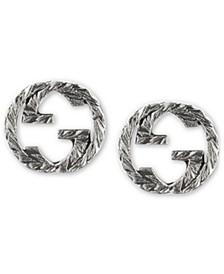 Interlocking G Stud Earrings in Sterling Silver