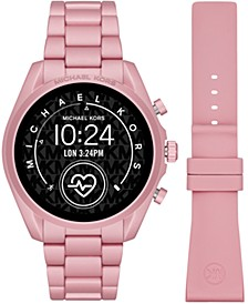 Access Unisex Gen 5 Bradshaw Blush Aluminum Bracelet & Blush Silicone Strap Touchscreen Smart Watch 44mm