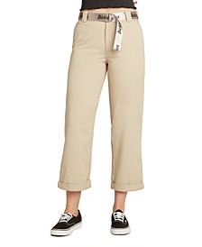 Juniors' Cropped High-Rise Pants