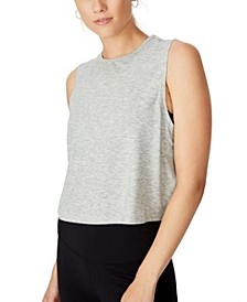 Cropped Active Muscle Tank Top