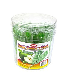 Green Apple Rock Candy Sticks, 36 Count