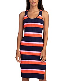 Gardenia Striped Cotton Dress