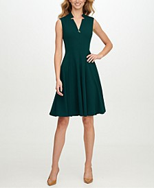 Star-Neck A-Line Dress