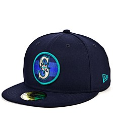 Men's Seattle Mariners Circle Fade 59FIFTY-FITTED Cap