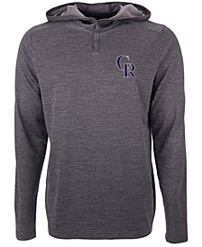 Colorado Rockies Men's Fuel Hooded Henley Top