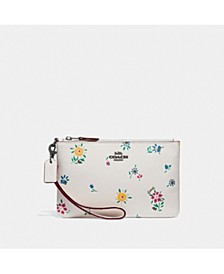 Small Wristlet With Wildflower Print