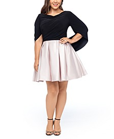 Plus Size Drape-Back Dress