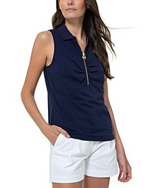 Zip-Front Polo Shirt