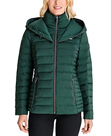 Petite Hooded Packable Waterproof Puffer Coat, Created for Macy's