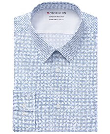 Men's Extra-Slim Fit Performance Stretch Temperature Regulation Circle-Print Dress Shirt
