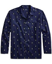 Men's Woven Printed Pajama Top