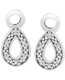 Diamond Accent Teardrop Earring Charms in Sterling Silver