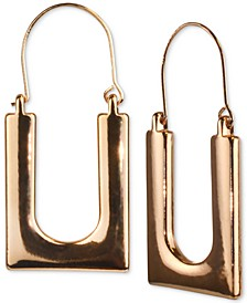 Gold-Tone Square Hoop Earrings, Created for Macy's