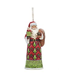 Santa With Toy Bag Ornament