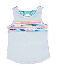 Toddler Girls Rainbow Stripe Tank Top