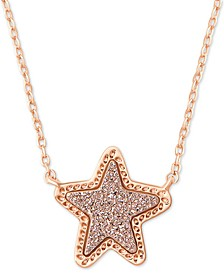 "Rock Crystal Star Pendant Necklace, 17"" + 2"" extender"